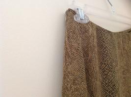 Tan Snakeskin Patterned Matching Sleeveless Shirt and Skirt Liz Claiborne Size 6 image 6