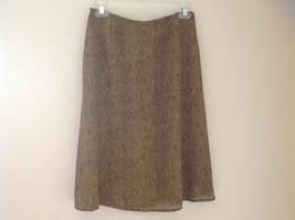 Tan Snakeskin Patterned Matching Sleeveless Shirt and Skirt Liz Claiborne Size 6 image 7