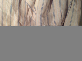 Tan with Blue Stripes Button Up Long Sleeve Dress Shirt Eddie Bauer Size Large image 5