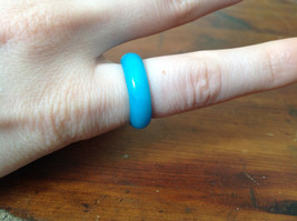 Teal Natural Stone Ring Size 6.75, 7.75, 8 and 9.25 image 3