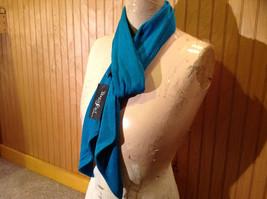 Teal Slight Metallic Shine Fashion Scarf by Magic Scarf Company Angular Ends image 2