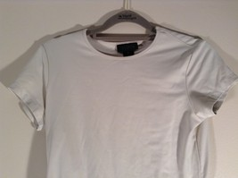 The Limited Stretch Size XL Short Sleeve Off White Top Made in USA image 2