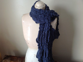The Magic Scarf Company Gray Blue Cinched Scarf 70 Inches in Length image 3