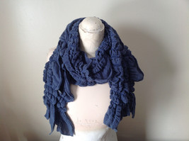 The Magic Scarf Company Gray Blue Cinched Scarf 70 Inches in Length image 4