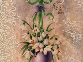 The Lord Is Risen Russian Artist Handmade Vintage Canvas Artist L Mironova image 4