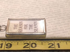 The Reason for the Season Charm Present Tie On  Reversible Tag Metal Glass Tag image 3