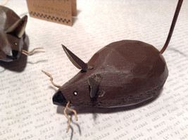 The Story of Two Bad Mice by Chatham River Story Book Pair of Brown Wooden Mice image 2