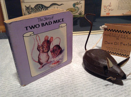 The Story of Two Bad Mice by Chatham River Story Book Pair of Brown Wooden Mice image 3