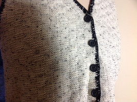 This'll Make Him Nuts!  Knit Sweater Vest Tan with  Black Trim V-Neck Size S/M image 3