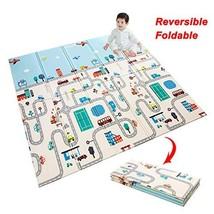 Foam Crawling Mat Baby Folding Play Mat Kids Reversible Extra Large Non Toxic Wa