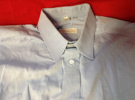 Tiatteli Mens Light Blue Long Sleeve Dress Shirt Made in Italy Size 16 Regular image 6