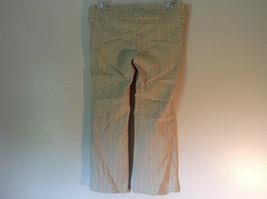 Twenty One Size Medium Cream Colored Striped Casual Pants Stretchy Waist image 5