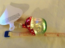Tiny double mushroom silver red Glass Holiday Tree Ornament Old German Christmas image 8