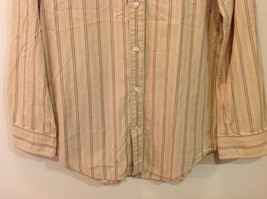 Timberland Striped Light Brown Beige Casual 100% cotton Shirt, Size M image 4