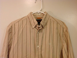 Timberland Striped Light Brown Beige Casual 100% cotton Shirt, Size M image 3