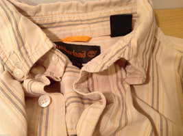 Timberland Striped Light Brown Beige Casual 100% cotton Shirt, Size M image 9