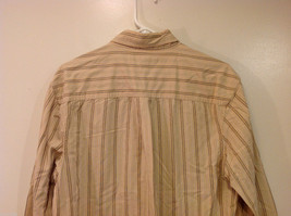 Timberland Striped Light Brown Beige Casual 100% cotton Shirt, Size M image 5