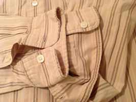 Timberland Striped Light Brown Beige Casual 100% cotton Shirt, Size M image 8