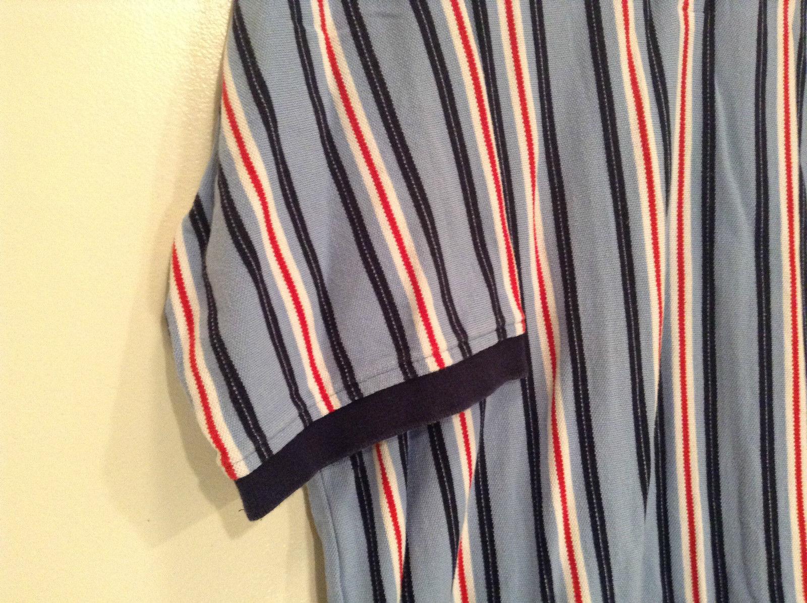 Tommy Hilfiger Size XXL 100 Percent Cotton Short Sleeve Blue with Stripes Shirt