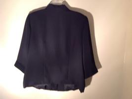 UNIFORM John Paul Richard Pure Black Jacket Blazer Shoulder Pads Size 16 image 6