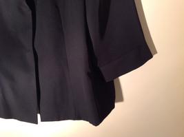 UNIFORM John Paul Richard Pure Black Jacket Blazer Shoulder Pads Size 16 image 4