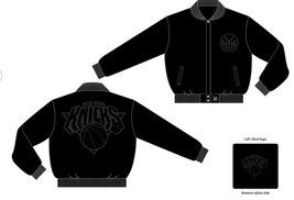 JH Design New York Knicks Wool Reversible Jacket - $84.95