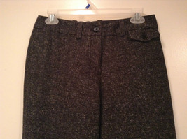 Very Nice Dark Gray with Light Dots H and M Dress Pants Size 6 Knee Lining image 2