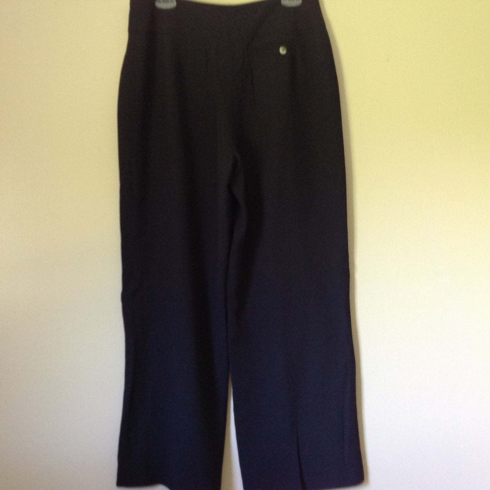 Very Nice Anne Klein New York Very Dark Blue Black Dress Pants Size 12 P