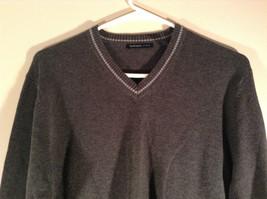 Van Heusen Dark Gray Light V Neck Sweater Size Small Petite 100 Percent Cotton image 2