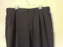 Van Heusen Gray Dress Pants Size 38/32 Cuffed Legs Front and Back Pockets image 2