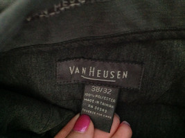 Van Heusen Gray Dress Pants Size 38/32 Cuffed Legs Front and Back Pockets image 8