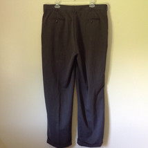 Van Heusen Gray Dress Pants Size 38/32 Cuffed Legs Front and Back Pockets image 6