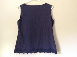 Very Cute Blue Tank Top by Coldwater Creek Size Medium 10 to 12 image 4
