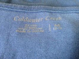 Very Cute Blue Tank Top by Coldwater Creek Size Medium 10 to 12 image 5