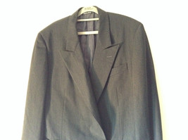 Verri Uomo Italian Suit Jacket Very Dark Gray 100 Percent Wool Size 50 image 2