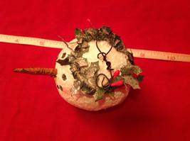 Very Cute Snowman Head with Mistletoe Christmas Ornament image 3