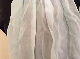 Very Light Baby Blue 100 Percent Silk Scarf image 2