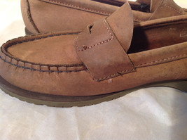 Vibram Size 8 and a Half Brown Hand Sewn in USA Penny Loafers  Half Inch Heel image 3