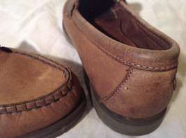 Vibram Size 8 and a Half Brown Hand Sewn in USA Penny Loafers  Half Inch Heel image 7