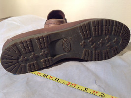 Vibram Size 8 and a Half Brown Hand Sewn in USA Penny Loafers  Half Inch Heel image 11