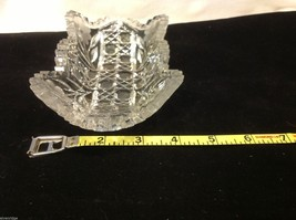 Vintage American Brilliant cut glass candy side dish from estate image 2