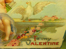 """Vintage """"Be Assured It's You or None that I Love...""""  Valentine's Day Heart image 5"""
