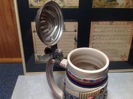 Vintage Ceramic Handmade Beer Stein with Pewter Lid Baseball Theme image 9