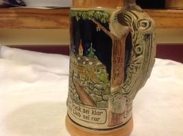 Vintage German lidded ceramic stein from estate mid 1900s #1 image 9