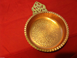 Vintage Copper Poringer Bowl with Glass Dish by Coppercraft Guild Taunton Mass image 7