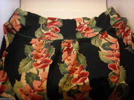 Vintage Fabric Dressing Table Cover with black white red pink green and piping image 5