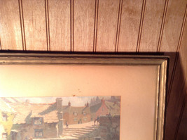 Vintage Framed Reproduction of Town Reservoir by John Moss image 4