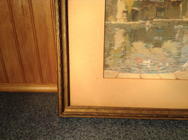 Vintage Framed Reproduction of Town Reservoir by John Moss image 6