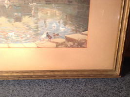 Vintage Framed Reproduction of Town Reservoir by John Moss image 5