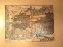 Vintage Framed Reproduction of Town Reservoir by John Moss image 2